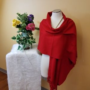 Extra large red scarf
